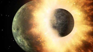 Photo de La Lune aurait été créée suit à un impact entre le Terre et Théia