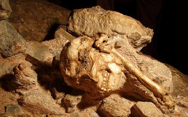 Little Foot a été retrouvé dans une grotte sur le site de Sterkfontein près de Johannesburg (AP)