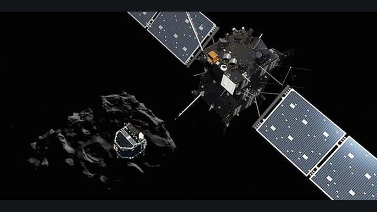 La sonde spatiale Rosetta a été aveuglée par les gaz de Tchouri.