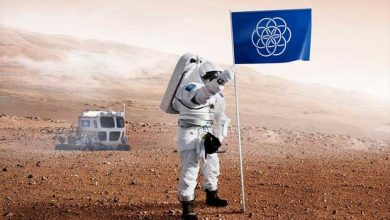 Photo de Un drapeau pour identifier la Terre auprès des extraterrestres