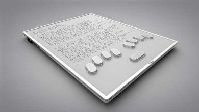 Photo of De petites bulles pour une tablette tactile en braille