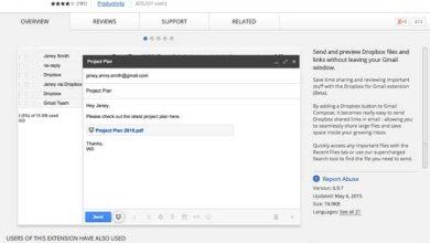 Photo de Dropbox pour Gmail : l'installation automatique dans Chrome en cours de test