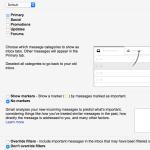 inbox tab settings