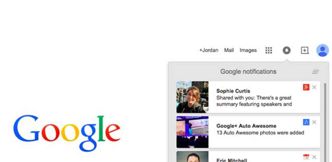 Les notifications de Google Plus deviennent simplement de Google