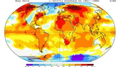 Photo de Mai 2015 : ça chauffe pour la planète Terre !