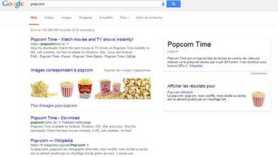 Photo de Pour Google, « Popcorn Time » correspond le plus à la recherche du mot « popcorn »