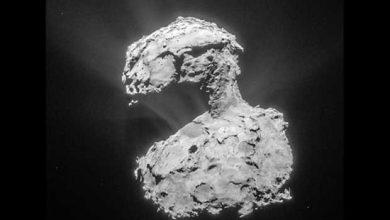 Photo de Rosetta : l'instrument MIRO dresse une carte de l'eau de la comète