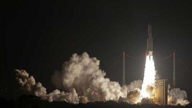 Décollage de la fusée Ariane 5, en octobre 2014, à Kourou, en Guyane française.