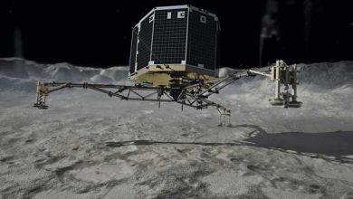 Photo de Comète Tchouri : Philae reparle après 15 jours de silence