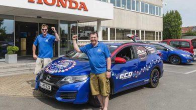 Photo de Honda décroche le Guinness World Records pour l'efficacité énergétique de la Civic Tourer 1.6 i-DTEC