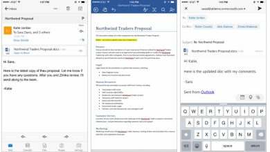 iOS : Microsoft renforce les liens entre Outlook et Office