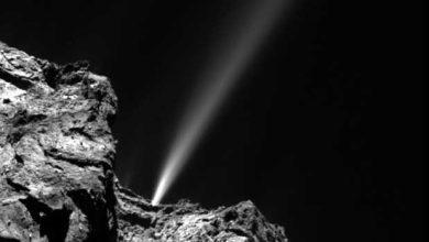 Photo de Rosetta accompagne Tchouri au passage de son périhélie
