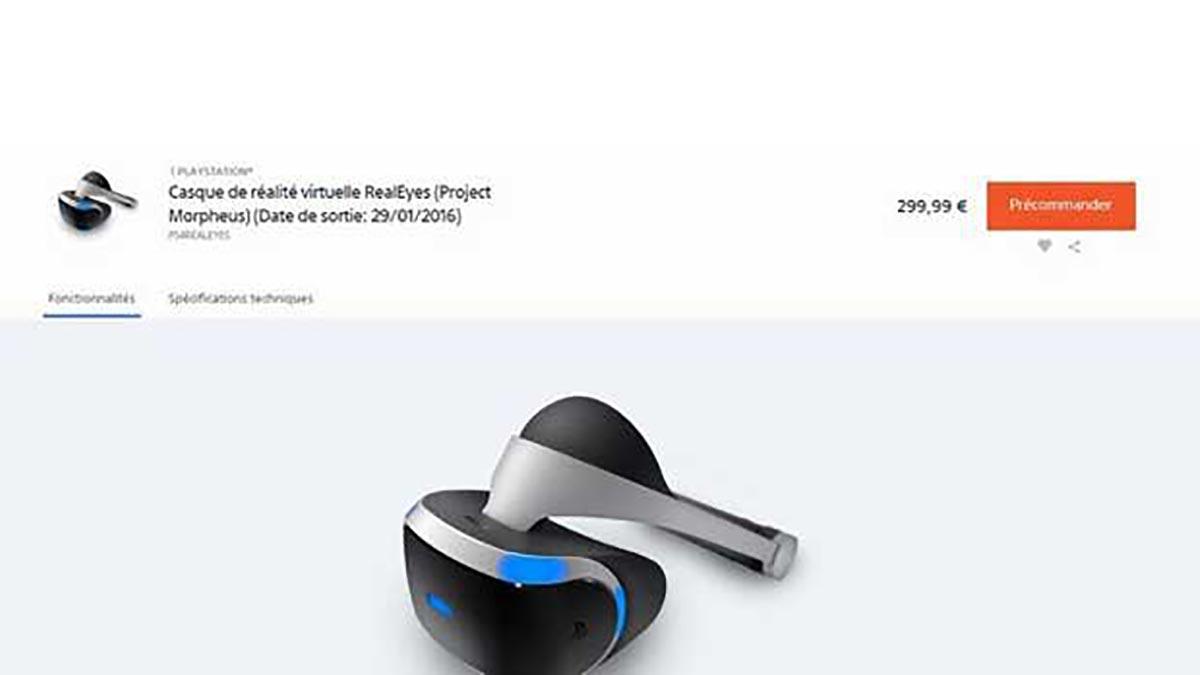 Sony : le Project Morpheus sera commercialisé en janvier prochain sous le nom de RealEyes