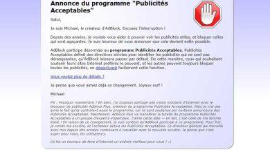 Photo de AdBlock : une adhésion au programme Publicités Acceptables qui pose des questions