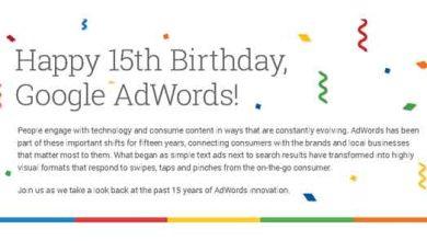 Adwords Birthday Infographic