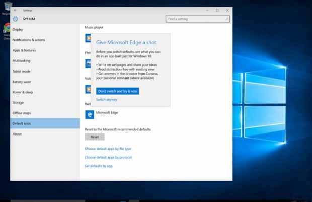 Windows 10 : Microsoft veut encore plus bloquer Chrome et Firefox