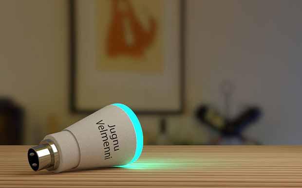 Une ampoule Velmenni conçue pour transférer des données haute vitesse en utilisant la lumière (Li-Fi)