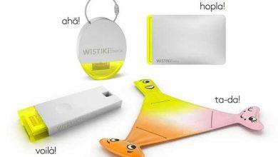 Photo de Wistiki : présentation de porte-clefs connectés dessinés par Philippe Starck