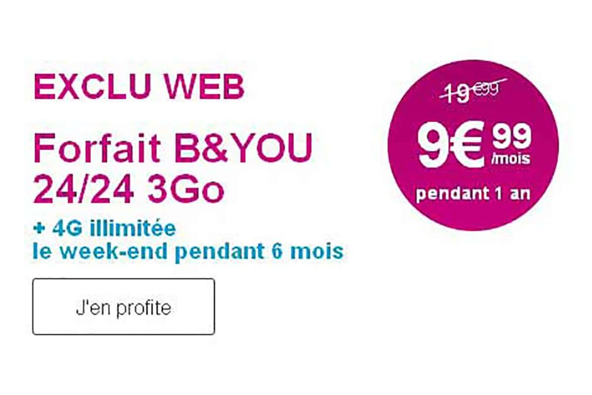 Prix cassés chez Bouygues Telecom : 10€ de moins chaque mois sur les forfaits 4G