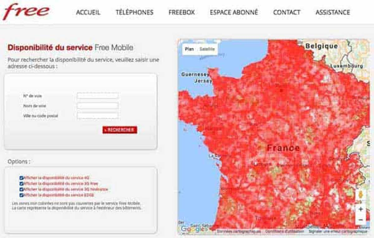 Est-ce que vous êtes concerné par le bridage 3G de Free Mobile? Une carte vous répond
