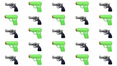 Photo de iOS 10 : pas d'emoji en forme de pistolet chez Apple