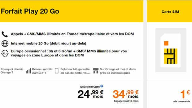 Orange Mobile Data Forfait