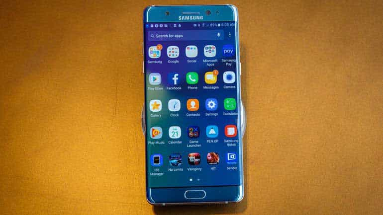 Une image officielle du Samsung Galaxy Note 7