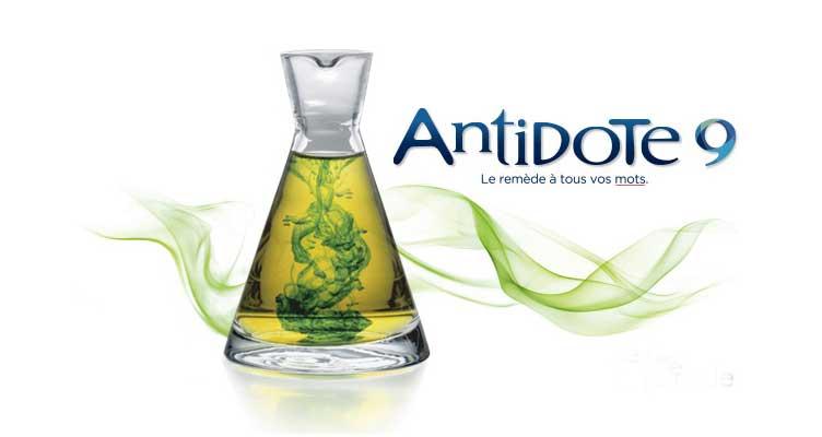 Antidote est un logiciel de correction grammaticale et d'aide à la rédaction en français et en anglais qui réunit un correcteur, dix dictionnaires, dix guides linguistiques, un prisme de révision, un prisme d'inspection et plusieurs autres outils