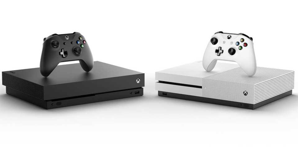 Microsoft Xbox One S et Xbox One X