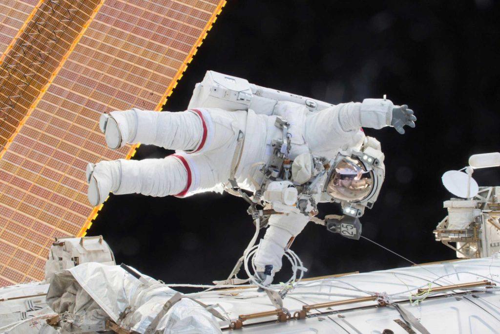 M. Kelly lors d'une sortie dans l'espace en décembre 2015.