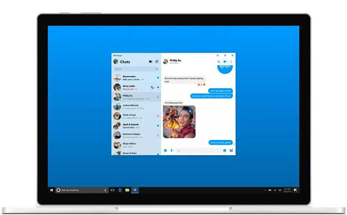 Facebook Messenger version MacOS et Windows