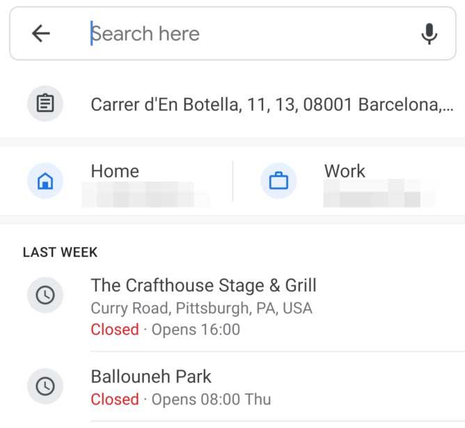 Google Maps affiche désormais les adresses de votre presse-papiers lors de la saisie d'un lieu