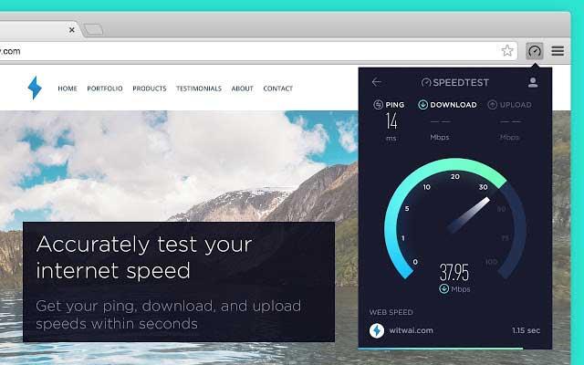Test de vitesse