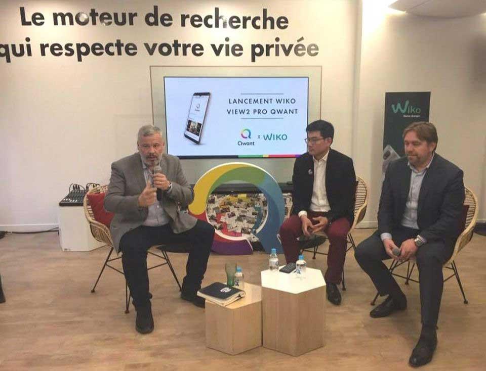 Le fabricant français de smartphones Wiko a dévoilé le premier téléphone Android en Europe doté du premier navigateur Web et moteur de recherche de Qwant, préinstallé sur la confidentialité, au lieu du navigateur Chrome et du moteur de recherche Google.