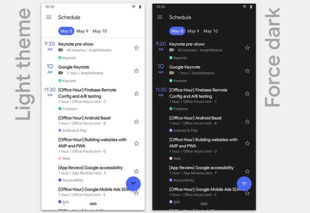 Android obtient enfin un mode nuit ou nocturne intégré.