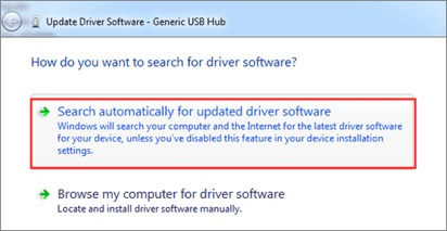 Update Driver Software Generic USB Hub