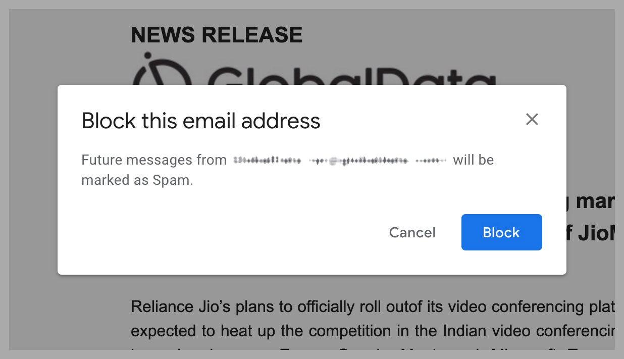 Bloquer les spammeurs persistants