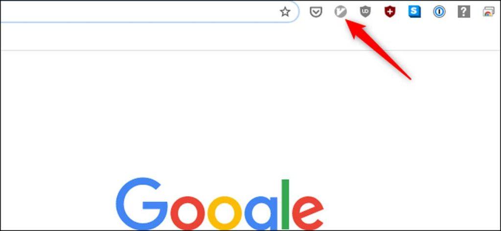 Lorsque l'icône du Vimium est grisée, elle est inactive.