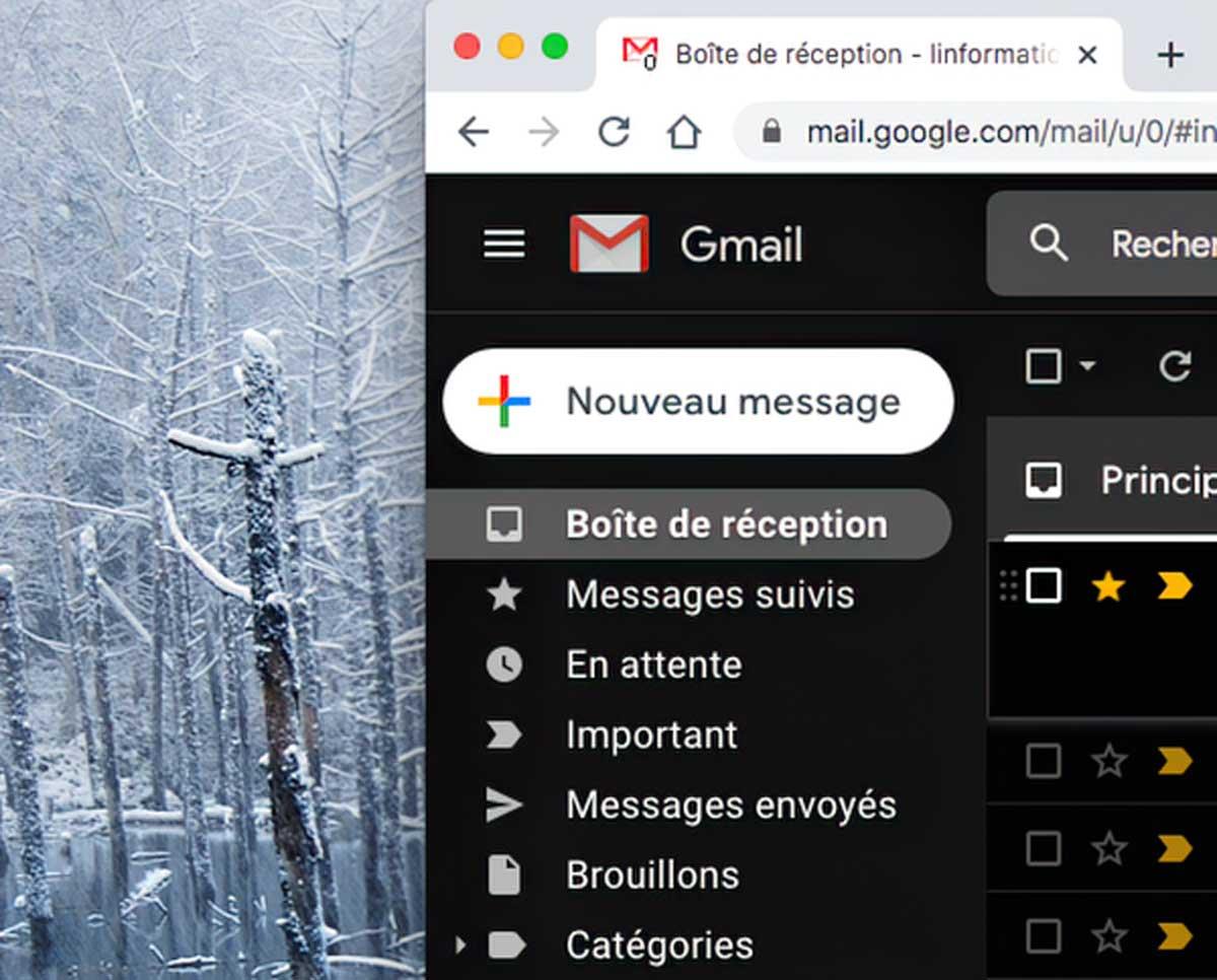 Boite de réception de Gmail