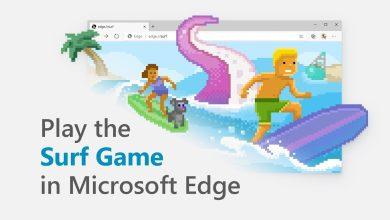 Photo de Un jeu de surf est désormais accessible à tous depuis Microsoft Edge