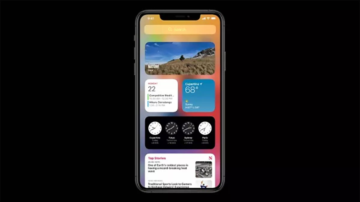 Les widgets de iOS 14