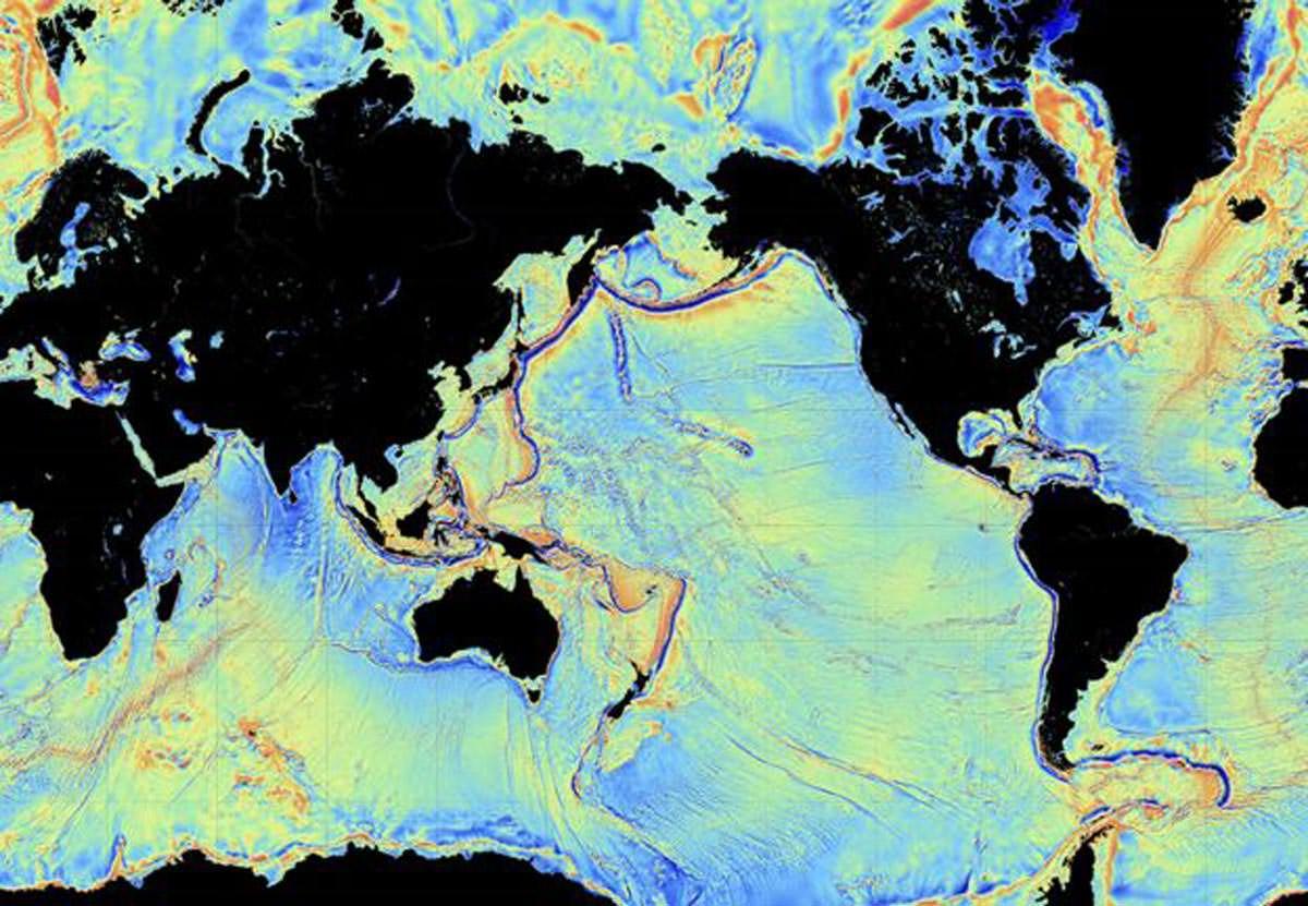 Les satellites peuvent également suivre la forme des fonds marins, mais le projet Seabed 2030 veut le faire de manière plus précise.