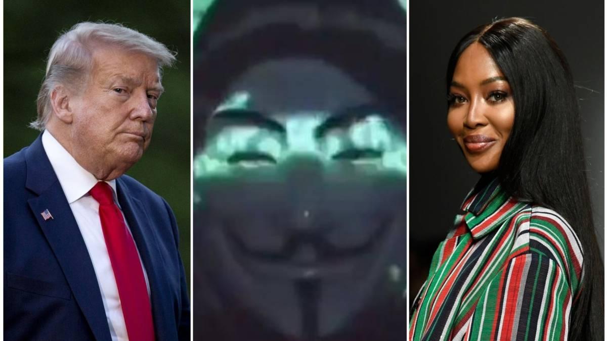Anonymous : Donald Trump et Naomi Campbell nommés dans le ring d'Epstein