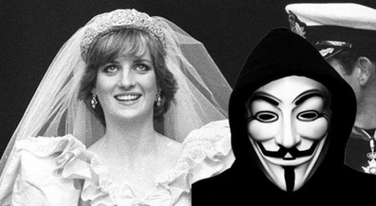 Anonymous: la famille royale a reçu l'ordre de tuer la princesse Diana