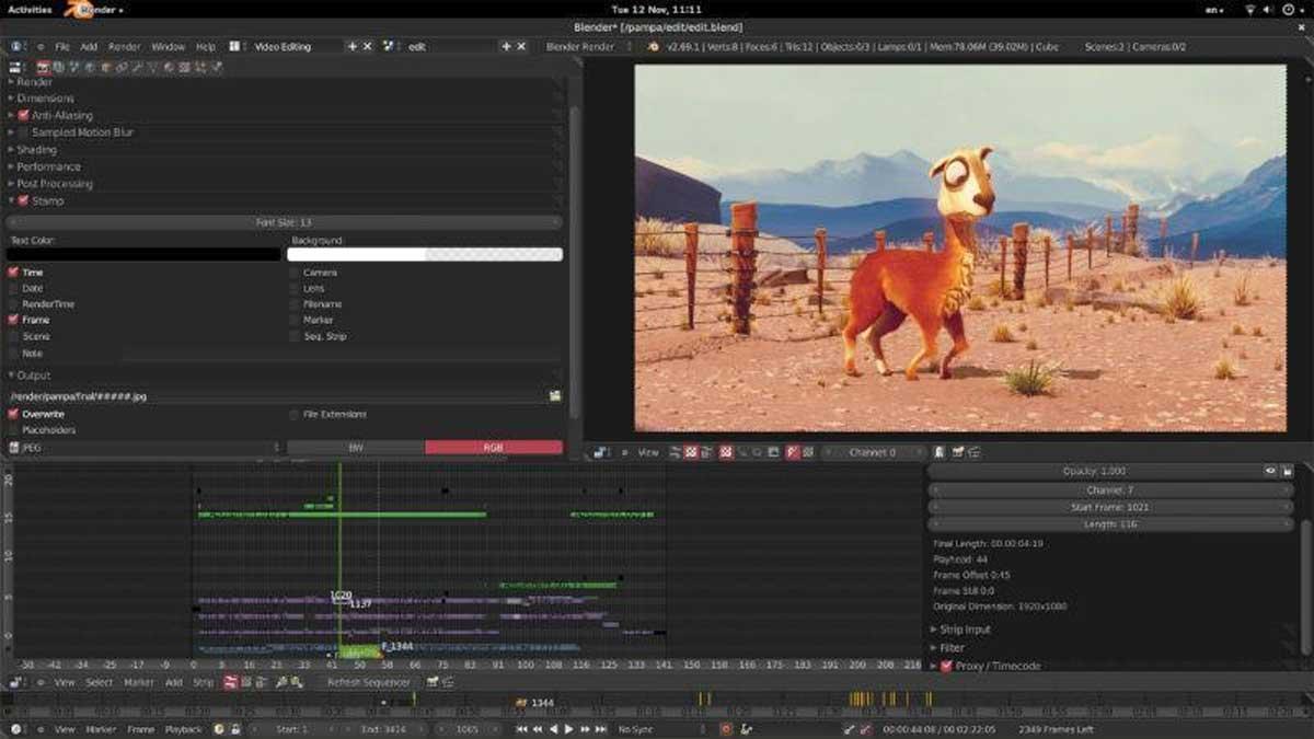 Blender : Editeur vidéo