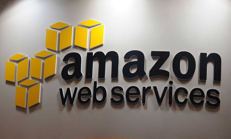 Logo d'Amazon Web Services (AWS) à Tokyo.