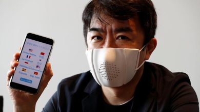 Photo de Un masque facial intelligent se connecte à Internet et se traduit en 9 langues