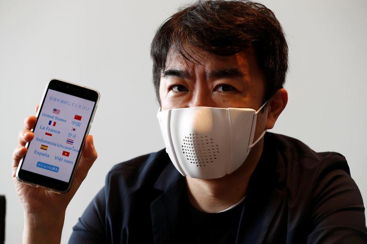 Un masque facial intelligent qui se connecte à internet