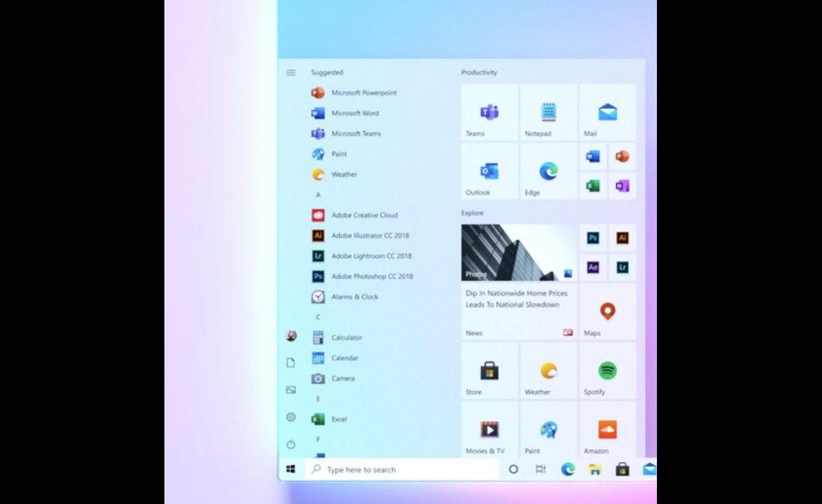 Microsoft se vante du nouveau menu de démarrage de Windows 10