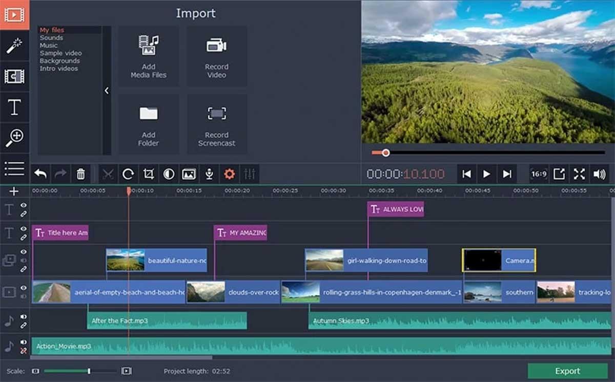 Movavi Video Editor : Éditeur vidéo intuitif et simple